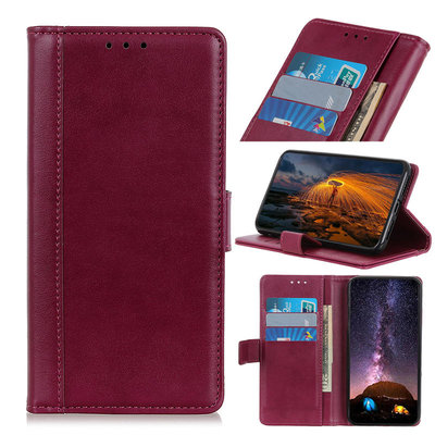Samsung Galaxy A31 hoesje, Luxe wallet bookcase, Rood-paars