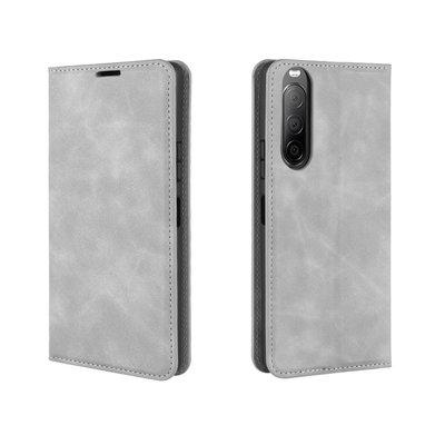 Sony Xperia 10 II hoesje, Luxe Wallet bookcase, Grijs