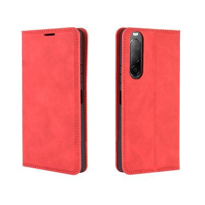 Sony Xperia 10 II hoesje, Luxe Wallet bookcase, Rood