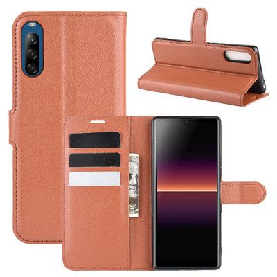 Sony Xperia L4 hoesje, Wallet bookcase, Bruin