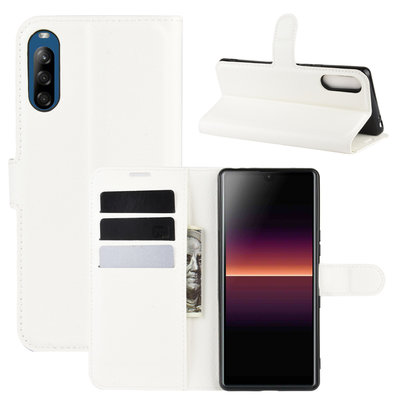 Sony Xperia L4 hoesje, Wallet bookcase, Wit