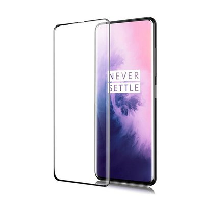 OnePlus 8 screenprotector, Full screen tempered glass (glazen screenprotector), Zwarte randen