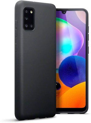 Samsung Galaxy A31 hoesje, Gel case, Mat zwart
