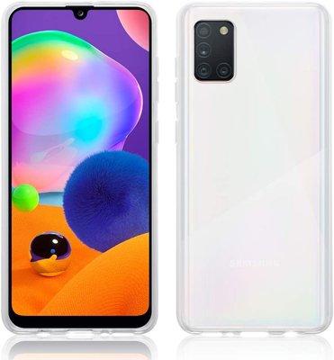 Samsung Galaxy A31 hoesje, Transparante gel case, Volledig doorzichtig