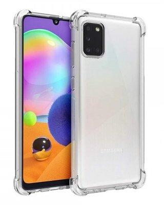 Samsung Galaxy A31 hoesje, Transparante Shock proof gel case met verstevigde hoeken, Volledig doorzichtig