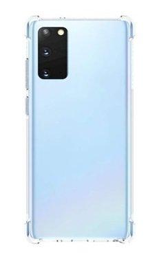 Samsung Galaxy Note 20 hoesje, Transparante Shock proof gel case met verstevigde hoeken, Volledig doorzichtig