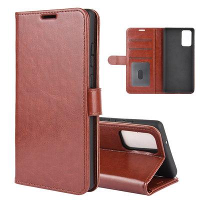Samsung Galaxy Note 20 hoesje, Wallet bookcase, Bruin