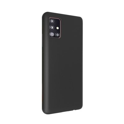 Samsung Galaxy A21s hoesje, Gel case, Mat zwart