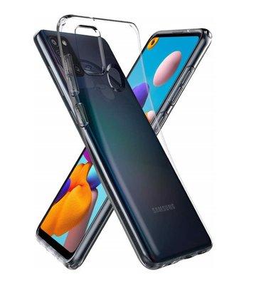 Samsung Galaxy A21s hoesje, Transparante gel case, Volledig doorzichtig