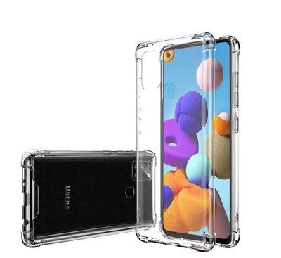 Samsung Galaxy A21s hoesje, Transparante Shock proof gel case met verstevigde hoeken, Volledig doorzichtig
