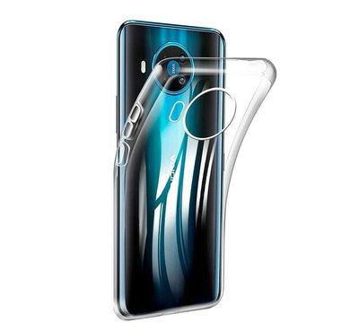 Nokia 8.3 hoesje, Transparante gel case, Volledig doorzichtig