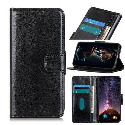 Nokia 8.3 hoesje, Wallet bookcase, Zwart
