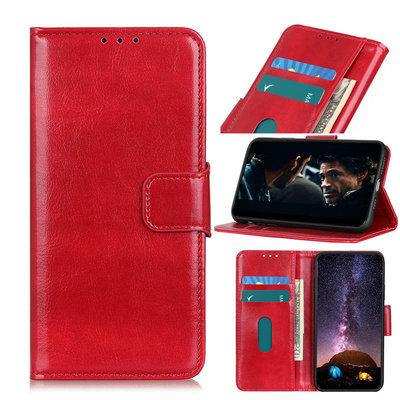 Nokia 8.3 hoesje, Wallet bookcase, Rood