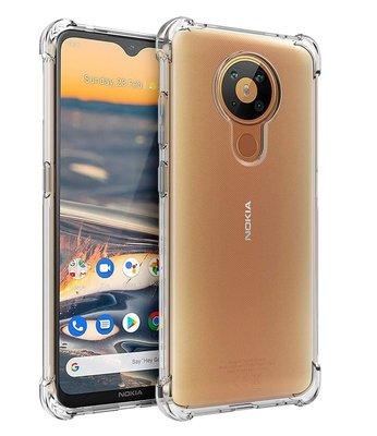 Nokia 5.3 hoesje, Transparante Shock proof gel case met verstevigde hoeken, Volledig doorzichtig