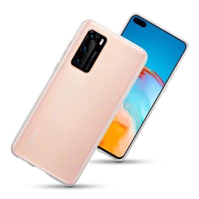 Huawei P40 hoesje, Transparante gel case, Volledig doorzichtig