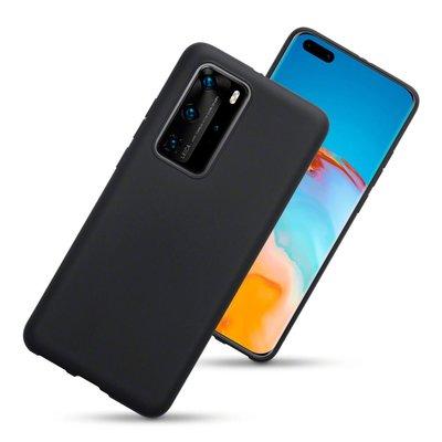 Huawei P40 Pro hoesje, Gel case, Mat zwart