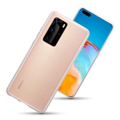 Huawei P40 Pro hoesje, Transparante gel case, Volledig doorzichtig
