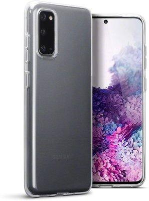 Samsung Galaxy S20 hoesje, Transparante gel case, Volledig doorzichtig