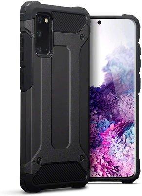 Samsung Galaxy S20 hoesje, Dubbel gelaagde pantsercase, Zwart