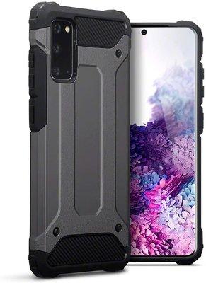 Samsung Galaxy S20 hoesje, Dubbel gelaagde pantsercase, Grijs