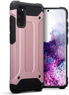 Samsung Galaxy S20 hoesje, Dubbel gelaagde pantsercase, Rosé goud