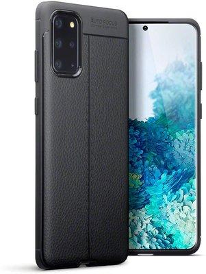 Samsung Galaxy S20 Plus (S20+) hoesje, Gel case lederlook, Zwart