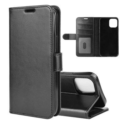 Apple iPhone 12 / iPhone 12 Pro hoesje, MobyDefend Wallet Book Case (Sluiting Achterkant), Zwart