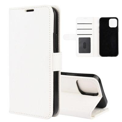 Apple iPhone 12 / iPhone 12 Pro hoesje, MobyDefend Wallet Book Case (Sluiting Achterkant), Wit