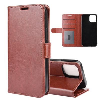 Apple iPhone 12 Mini hoesje, Wallet bookcase, Bruin