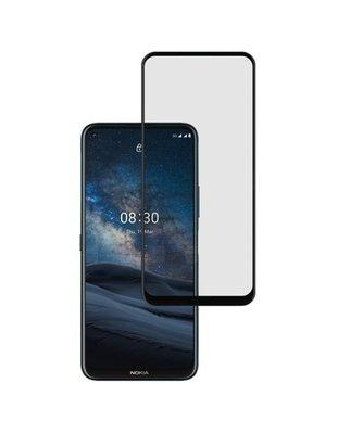 Nokia 8.3 screenprotector, Full screen tempered glass (glazen screenprotector), Zwarte randen