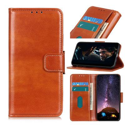 OnePlus 8T hoesje, Wallet bookcase, Bruin