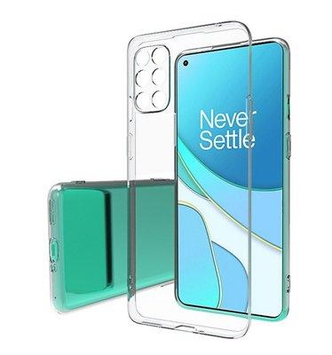 OnePlus 8T hoesje, Transparante gel case, Volledig doorzichtig
