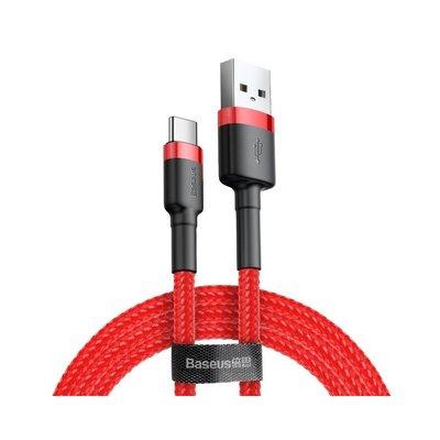 Baseus USB-C naar USB-A kabel, 3 Meter, Rood-Zwart