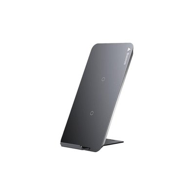 Baseus Desktop Qi Wireless Charger - 10 Watt - Draadloze Oplader - Grijs