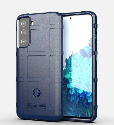 Samsung Galaxy S21 hoesje, Rugged shield TPU Gelcase, Blauw
