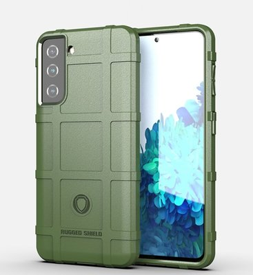 Samsung Galaxy S21 hoesje, Rugged shield TPU Gelcase, Groen