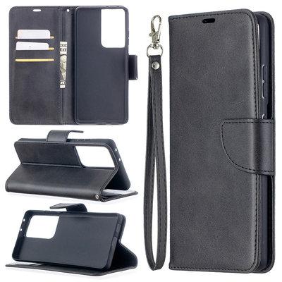 Samsung Galaxy S21 Ultra hoesje, Wallet bookcase, Zwart