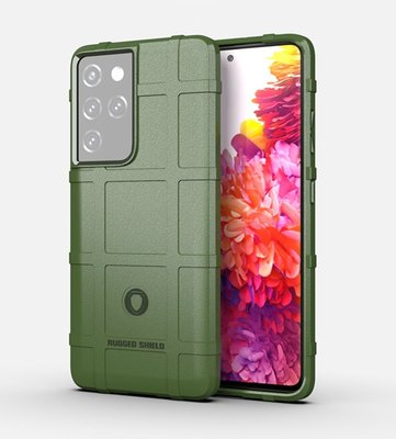 Samsung Galaxy S21 Ultra hoesje, Rugged shield TPU Gelcase, Groen
