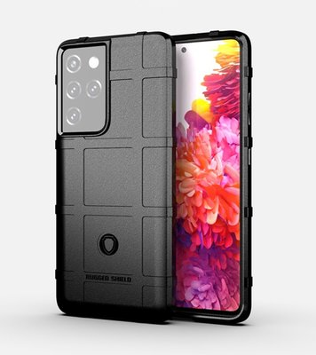 Samsung Galaxy S21 Ultra hoesje, Rugged shield TPU Gelcase, Zwart