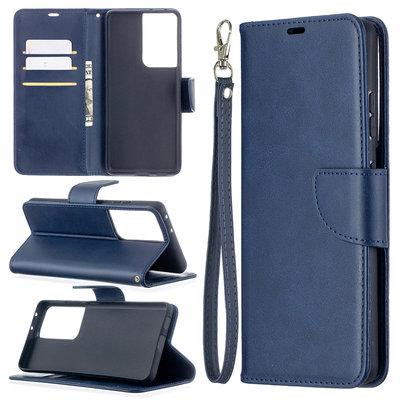 Samsung Galaxy S21 Ultra hoesje, Wallet bookcase, Blauw
