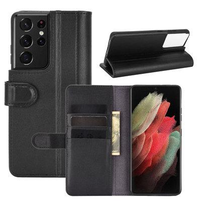 Samsung Galaxy S21 Ultra hoesje, Luxe wallet bookcase, Zwart