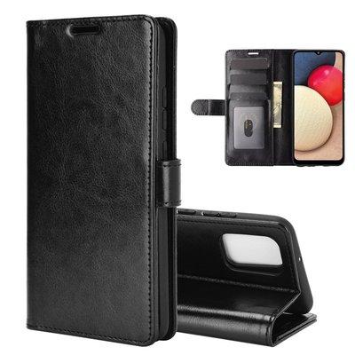 Samsung Galaxy A02s hoesje, Wallet bookcase, Zwart