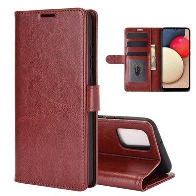 Samsung Galaxy A02s hoesje, Wallet bookcase, Bruin