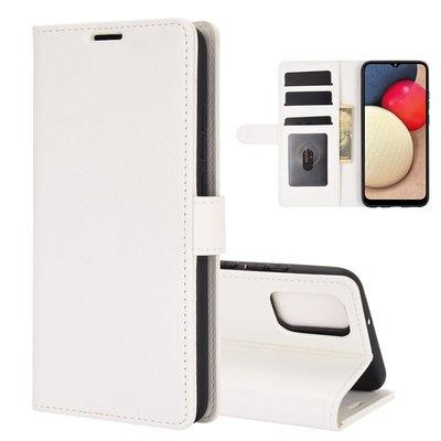 Samsung Galaxy A02s hoesje, Wallet bookcase, Wit