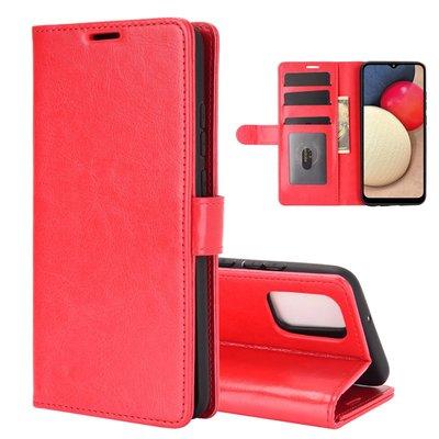 Samsung Galaxy A02s hoesje, Wallet bookcase, Rood