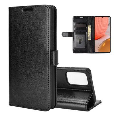 Samsung Galaxy A72 hoesje, Wallet bookcase, Zwart