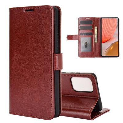 Samsung Galaxy A72 hoesje, Wallet bookcase, Bruin