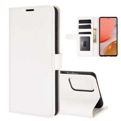 Samsung Galaxy A72 hoesje, Wallet bookcase, Wit