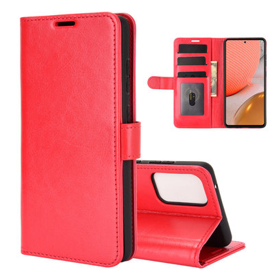 Samsung Galaxy A72 hoesje, Wallet bookcase, Rood