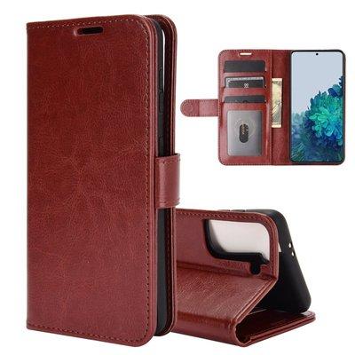Samsung Galaxy S21 hoesje, Wallet bookcase, Bruin